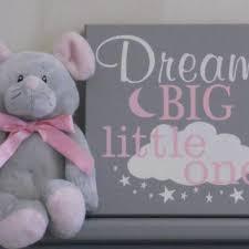 dream big little one baby girl nursery dream big wall art girl