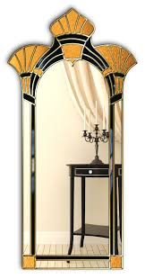 art deco mirror amelia gold