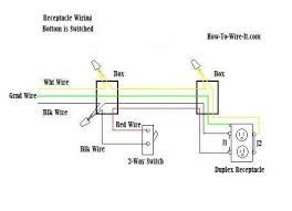 wire an outlet one switched receptacle wiring diagram