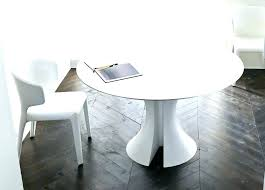 modern round extendable dining table white