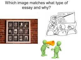 knowing the difference between types of essays and being able to  5 which image matches what type
