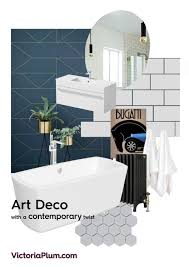 Modern Art Deco Bathrooms Art Deco Mood Board Victoriaplumcom