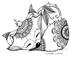 Fox And Wolf Coloring Pages At Getdrawingscom Free For Personal