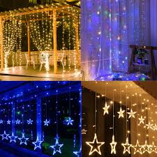 Curtain Led Lights Uk Details About 3m Usb Led Fairy String Curtain Window Lights Hanging Star Light With Remote Uk