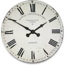 greenwich cream wall clock 70cm