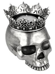 king baby studio  crowned skull candle holder
