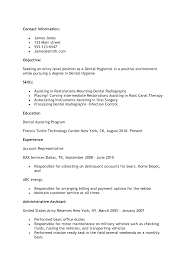 Resume Sample Dental Hygienist Resume Sample Free Dental