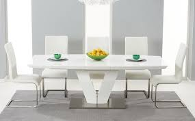 extending high gloss dining table sets