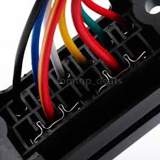 dc32v 6 way circuit car boat bus atc ato blade fuse box block 2 dc32v 6 way circuit car boat bus atc ato blade fuse box block 2 input wire r4sv 5 5 of 6