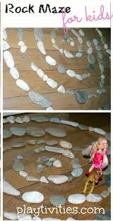 Making maze from rocks. Playtivities.com