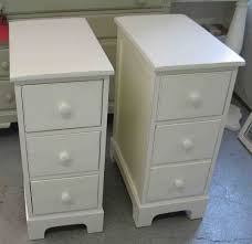 ... Large Size Very Narrow Nightstand Unique Decoration With Twin  Disstressed White Stained ...