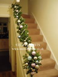 Garland On Staircase Decorating Christmas Ideas