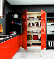 Poppy Orange And Ebony Kitchen Color Schemes With Dark Cabinets Small  Scheme Ideas Fabulous Plain Modern