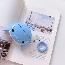 Cute Silicone Earphone Case Cartoon Whale <b>Dolphin Cover for</b> ...