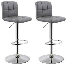 morrison faux leather adjustable bar stools set of 2 contemporary bar stools and counter stools by houzz