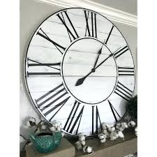36 inch wall clock oversized inch white washed farmhouse wall clock x 36 wall clock kit