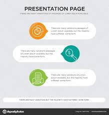 Print Lens Pie Chart Presentation Stock Vector