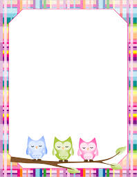 owl blank paper writing paper printable paper and school printable blank writing paper for home or school lots of different printable paper in