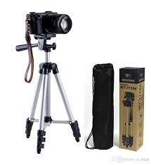 tripod wt 3110a portable light camera and ball head carrying bag phone clip for canon nikon sony dslr dv