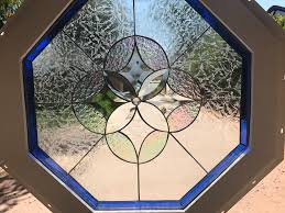 vinyl framed and tempered glass insulated the hermosa octagon stained glass beveled window