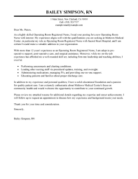 Cover Letter Registered Nurse Cover Letter Examples Experienced