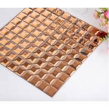 tea crystal glass mosaic sheets mirror tile kitchen wall backsplashes square mirrored tile pyramid design mirrors