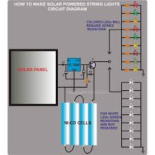 how to make solar powered string lights circuit diagram image