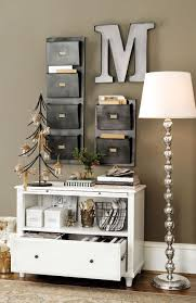 Image Small Office Bookshelf File Storage And Wall Pockets Turn Small Sliver Of Wall Into Hardworking Storage System Pinterest Office And Work Spaces Decorating Ideas In 2019 Home Office Home