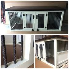 Solid Wood Dog Crate Small Size Dog Crate Bench And I Built A