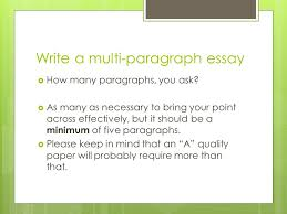 writing workshop response to literature essay author s literary  write a multi paragraph essay  how many paragraphs you ask