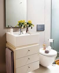 Simplicity Small Bathroom Decorating Ideas With Floating Bath ...