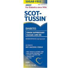 Scot Tussin Diabetes Cough Suppressant Formula With Dm 4 Oz