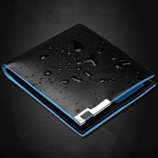 pulabo bifold business leather wallet money card holder coin bag purse gift black ksa souq