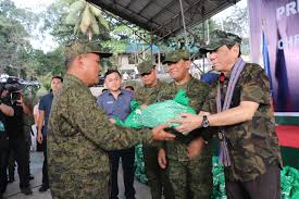 prrd mends troops gives gifts