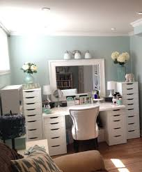 white vanity makeup dressing table with rotating mirror ideas
