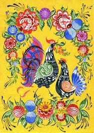 Gorodetc   Фолк-арт картины рисунки, Образец искусства ...