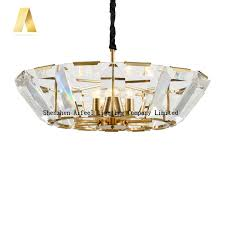 new style k9 crystal antique gold color hardware bowl shape crystals lighting chandeliers