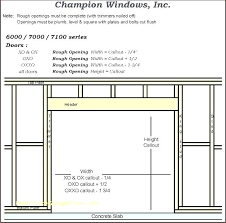 Door Rough Opening Chart Picture Frame Sizes Gogoni Co