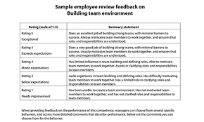 feedback forms for employees sample performance review comments resources