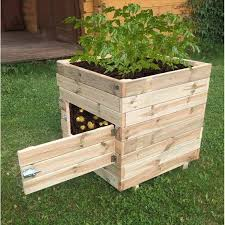 kostuch square potato planter box the solid wooden structure can square wooden planters