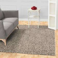 jasmin collection cubes design gray and ivory 5 ft x 7 ft area rug