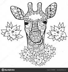 Verloren Zoon Kleurplaat Giraf In Doodle Stylee Kleurplaat Pagina