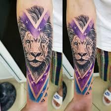Olsi Tattoo Lion Triangle Color فيسبوك