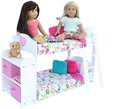 Amazon.com: PZAS Toys Doll Bunk Bed - Doll Bunk Bed for 18 Inch ...