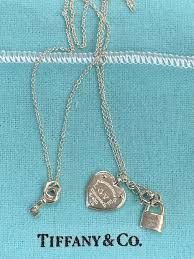 details about tiffany co sterling silver love heart tag key pendant 16 18 retail 285