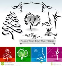 Designs For Decoration Natural Calligraphic Designs And Decoration Stock Vector 2
