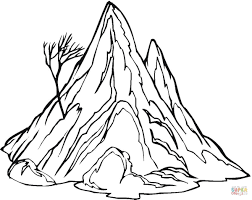 Small Picture Mountain Coloring Pages Printable Coloring Coloring Pages