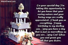 Birthday Wishes For Son via Relatably.com
