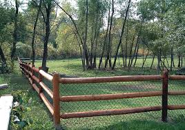 wood rail fence. Brilliant Fence Copperwood Round Rail In Wood Fence A