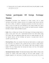 project of foreign exchange market 8